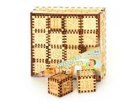 Деревянная игрушка кубики Английская Азбука 0007 Роза Ветров