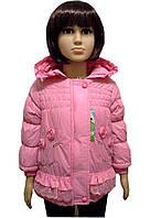 Детская Куртка демисезонная на девочку 1-3 года розовая, фото 1