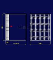 Раздвижная решетка на дверь Шир.1743*Выс2250мм, S=3,92кв.м., фото 1