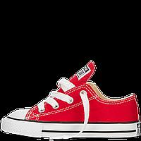 Кеды Converse All Star  детские красные низкие Реплика, фото 1