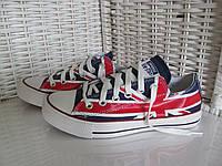 Кеды Converse All Star  низкие Британия Реплика, фото 1