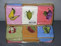 Набор кухонных полотенец Philippus Кофе-фрукты, 6*30х50см, в мягкой упаковке
