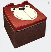 """Пуф детский """"Зоопарк-Медведь"""", коричневый, 30*30*30см, в пак. 31, 564018"""