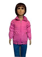 Детская Куртка демисезонная на девочку 1-3 года Звезда пудра