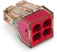 Клемма 773-604 серии для распределительных коробок на 4 моножильных провода  4 мм²
