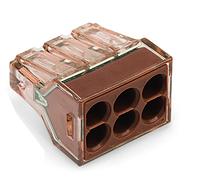 Клемма 773-606 серии для распределительных коробок на 6 моножильных провода  4 мм²