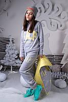Серый  подростковый спортивный костюм тройка Gap -двухсторонний  Арт-5015/44