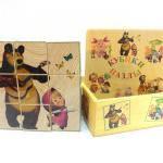 Деревянные кубики. Пазлы «Маша и Медведь»