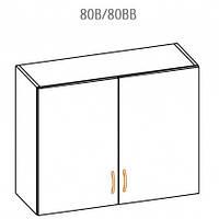 Навесной шкаф Оля 100 верх витрина