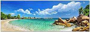 Скинали Пляж Море - стекло с фотопечатью