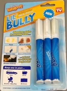 Карандаш пятновыводитель Lil Bully, Лил Були (набор 3 шт.) -  карандаш от пятен , фото 1