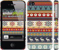 "Чехол на iPhone 4s Рождественский орнамент ""3303c-12"""