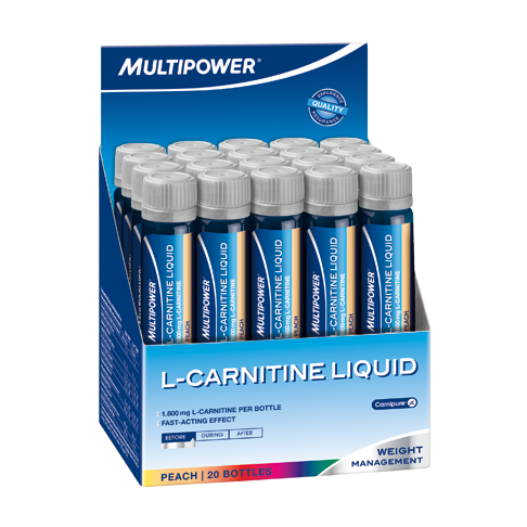 L-карнитин Multipower L-carnitine liquid forte 1800 mg 20 амп  персик