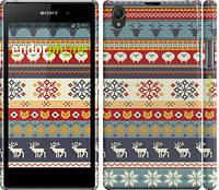 """Чехол на Sony Xperia Z1 C6902 Рождественский орнамент """"3303c-38"""""""