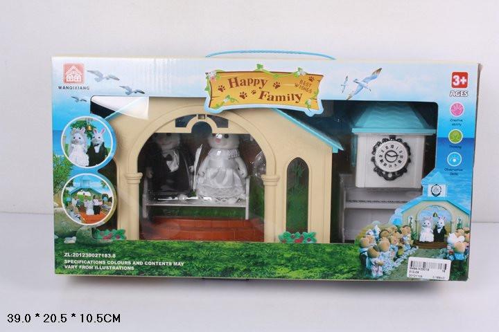 """Домик """"Happy Family"""", флоксовые животные, свадебная церемония,  012-09 - Интернет-магазин """"Радуга"""" в Днепропетровской области"""