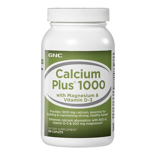 Витаминные и минеральные комплексы GNC CALCIUM +1000w/MAG&D 180 caps
