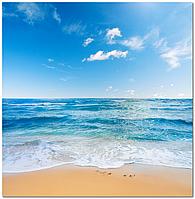 Скинали Пляж Море - печать на стекле