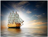 Скинали Корабль -  печать на стекле