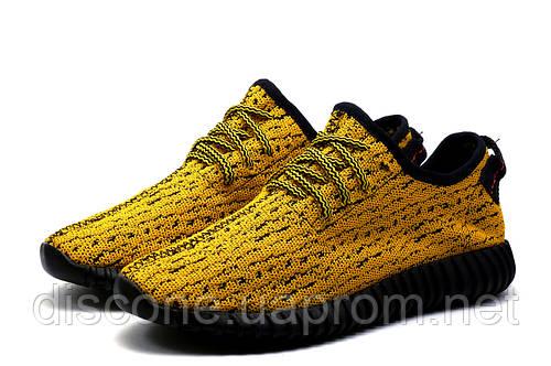 Кроссовки мужские Adidas Yeezy Boost 350, текстиль, желтые