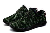 Кроссовки мужские  Adidas Yeezy Boost 350, текстиль, зеленые, фото 1
