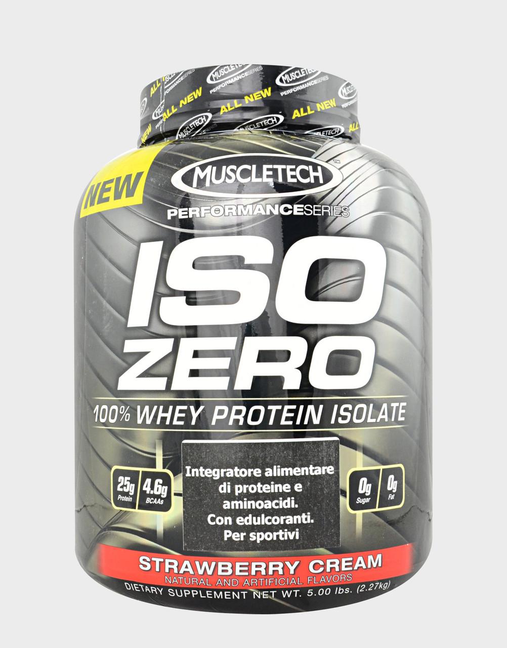Протеины Изолят MuscleTech ISO ZERO  2,27 kg vanilla ice cream