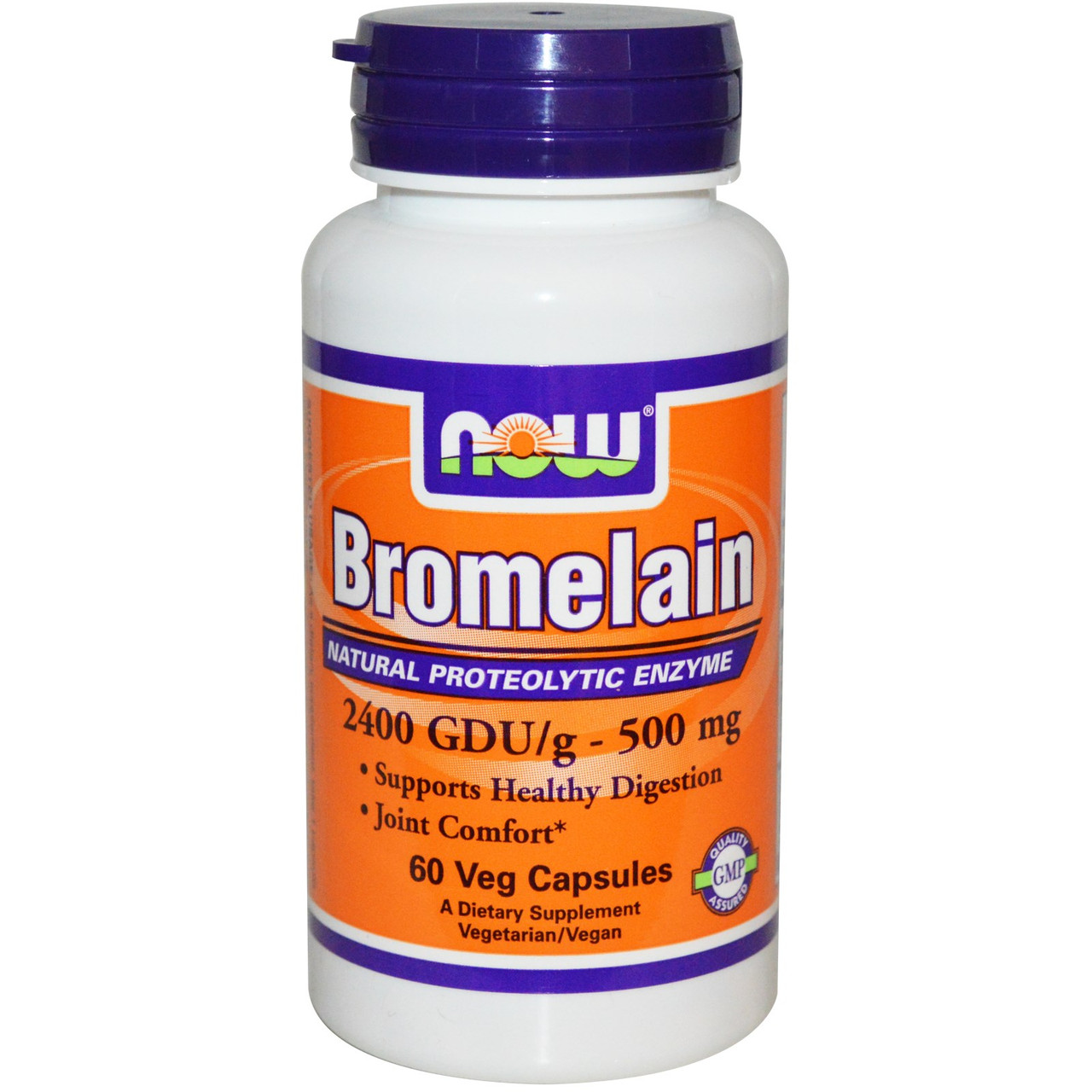 Специальные препараты NOW Bromelain 500 mg  60 caps