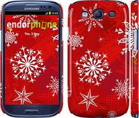 "Чехол на Samsung Galaxy S3 Duos I9300i Снежинка 2 ""3312c-50"""