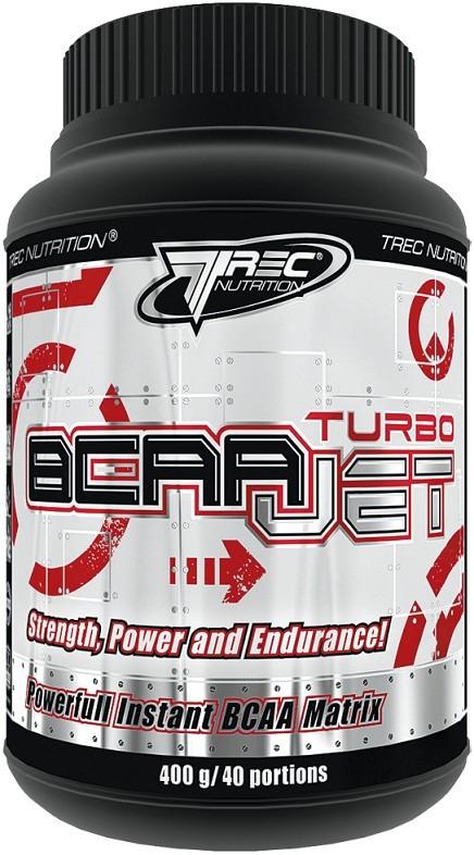 BCAA - Лейцин, Изолейцин, Валин TREC nutrition BCAA Turbo JET  400 g blackcurrant