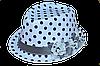 Шляпа челентанка цветы х/б горох ч/б