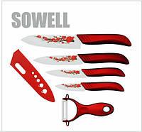 Набор керамических ножей SOWEL 5 штук, фото 1