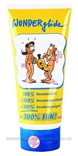 Гель-смазка для усиления скольжения WONDERGLIDE 200 мл со вкусом банана