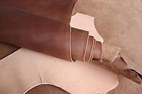 """Натуральная кожа """"Крейзи Хорс"""" для обуви и кожгалантереи коньячного цвета, толщина 1.5 мм, арт. СК 2027"""