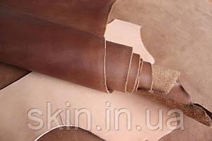 """Натуральная кожа """"Крейзи Хорс"""" для обуви и кожгалантереи коньячного цвета, толщина 1.5 мм, арт. СК 2027, фото 2"""