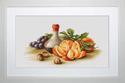 """Набор для вышивания нитками  """"Натюрморт с апельсинами"""", фото 2"""