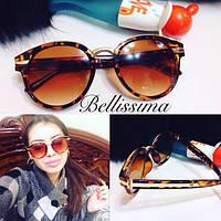Женские круглые коричневые солнцезащитные очки l-431687