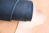 Кожа натуральная ременная черного цвета, толщина 3.5 мм, арт. СК 1636