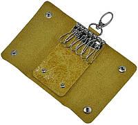 Кожаная ключница 108 желтая