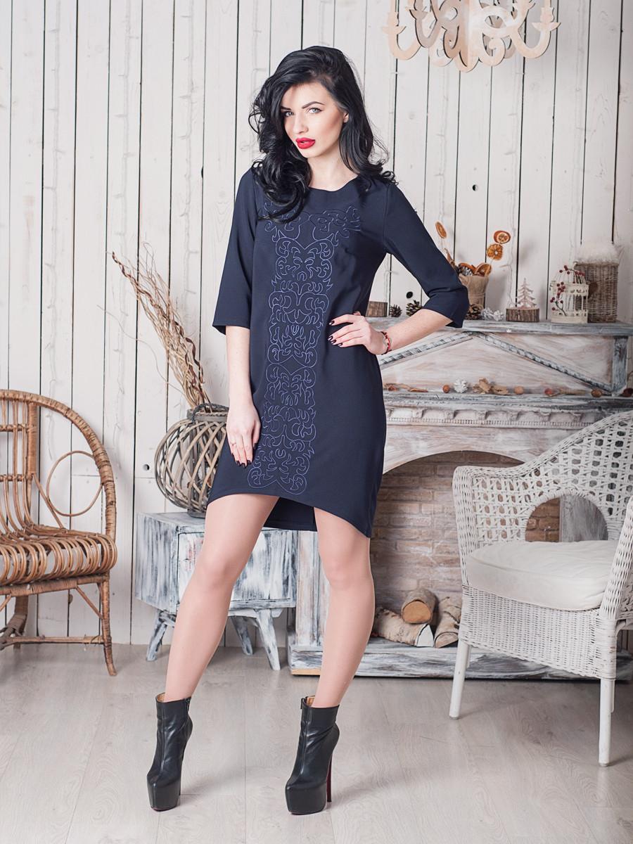 Молодежное платье темно синего цвета Тейлор
