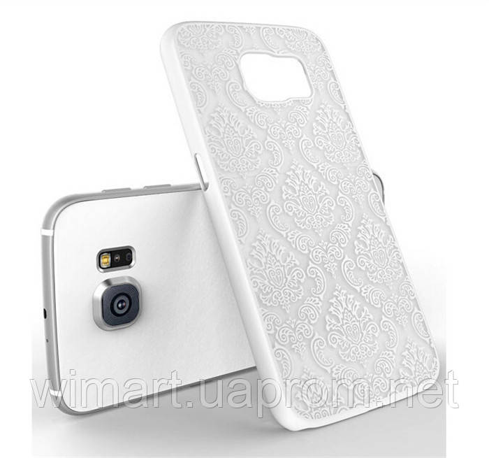 Пластиковый чехол Vintage Damask White для Samsung Galaxy S6