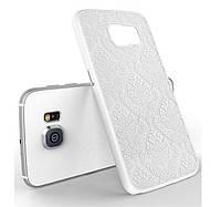 Пластиковый чехол Vintage Damask White для Samsung Galaxy S6, фото 1