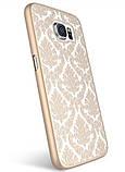 Пластиковый чехол Vintage Damask White для Samsung Galaxy S6, фото 3