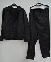 Костюм охранника черный (куртка+брюки)