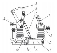 Конструкция выключателей нагрузки автогазовых ВНА