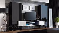 Мебельная стенка Tori Черный + белый