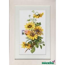 """Набор для вышивания нитками  """"Желтые цветы"""", фото 2"""