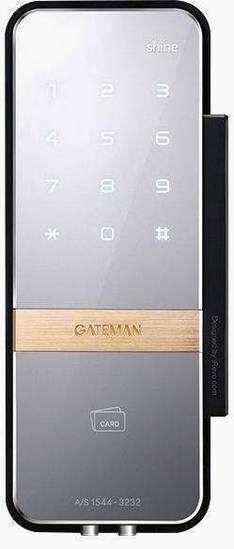 Электронный накладной замок Irevo Gateman Shine для стеклянных дверей