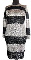 Женское платье со вставками из кружева