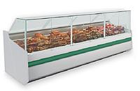 Холодильная гастрономическая витрина SAMOS КУБ 2.50 с кубическим стеклом (статика)