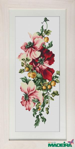 """Набор для вышивания нитками  """"Цветы"""""""