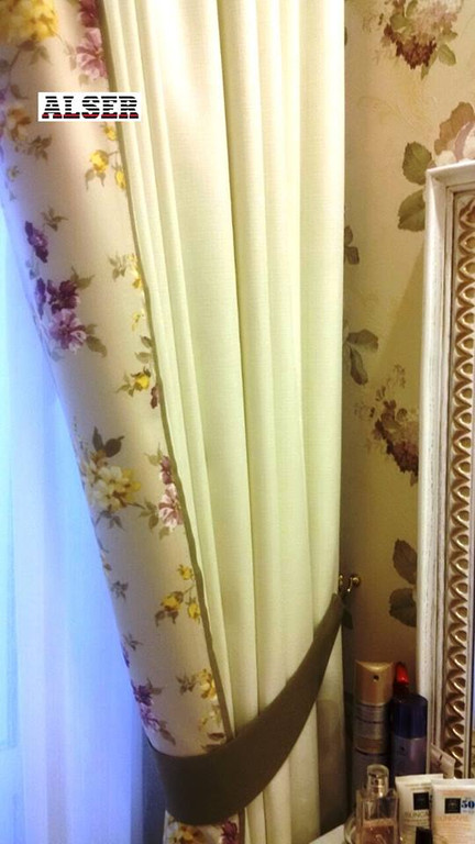 Шторы на тесьме. Завершенный объект по дизайнерским шторам + покрывало: г. Киев, ул. Приречная Под ключ - 20 088 грн. Срок изготовления - 14... 2